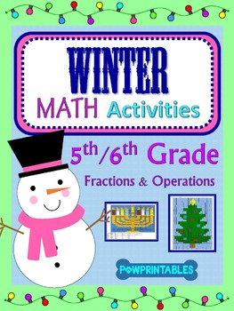 5th & 6th - 2 Winter/Christmas Math Coloring Activities! -