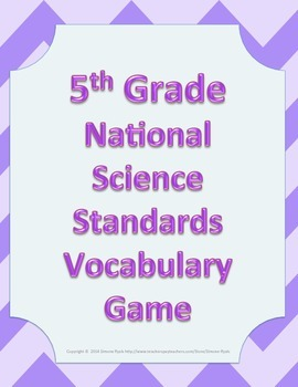 5th Fifth Grade NGSS Next Generation Science Standards Voc