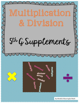 Multiplication and Division Supplement Unit