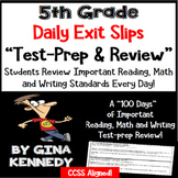 5th Grade Daily Test-Prep Reading, Writing and Math Exit Slips