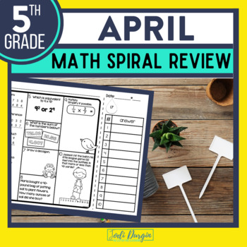 FIFTH Grade Math Homework or 5th Grade Morning Work for APRIL