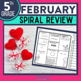 5th GRADE Homework Morning Work for MATH - FEBRUARY NO PREP
