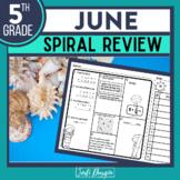 5th GRADE Homework Morning Work for MATH - JUNE NO PREP