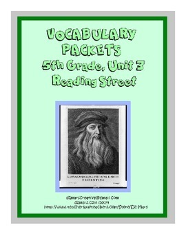 5th Gr. Reading Street Vocabulary Packets - Unit 3 - inter