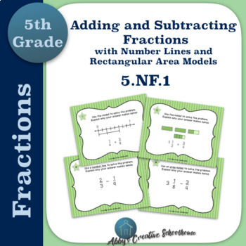 5.NF.1 Add and Subtract Fractions w Number Lines and Area