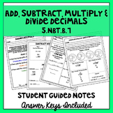 5th Grade Adding, Subtracting, Multiplying & Dividing Deci