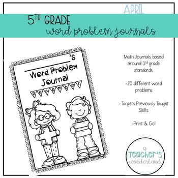 5th Grade April Word Problem Journals