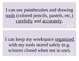 5th Grade Art I Can Statements