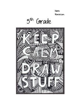 5th Grade Art Journal