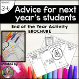 Advice for next year's students: an end-of-the-year activi
