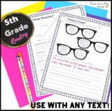 5th Grade CCSS Standards Aligned Reading Worksheets