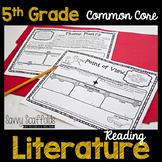5th Grade Reading Literature Graphic Organizers for Common Core