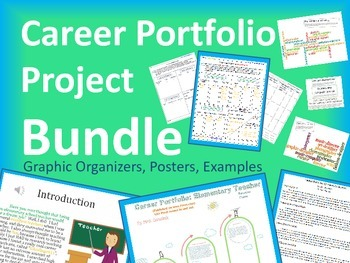 5th Grade Career Portfolio Project Report Bundle