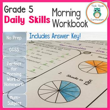 Grade 5 Daily Skills Morning Workbook