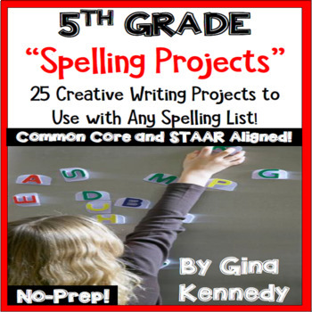 5th Grade Spelling and Vocabulary Projects, Use with Any W