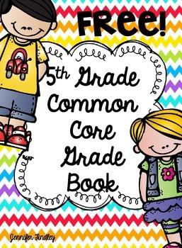 5th Grade Common Core Grade Book {Freebie}