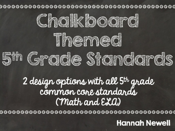 """5th Grade Common Core """"I Can"""" Statements (Math and ELA)"""