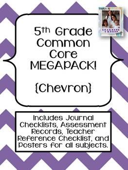 5th Grade Common Core MEGAPACK! {Chevron}
