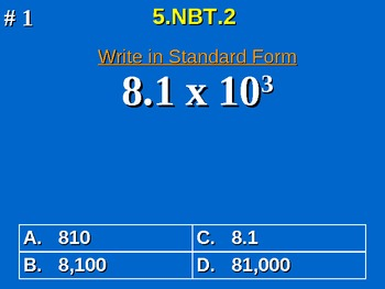 5th Grade Common Core Math 5 NBT.2 Multiply & Divide By A