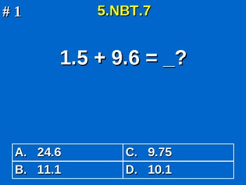 5th Grade Common Core Math Add, Subtract, Multiply Divide