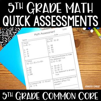5th Grade Common Core Math Assessments