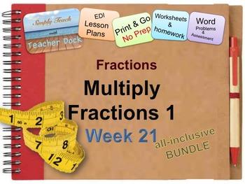Week 21 Modeling Multiplication of Fractions 5th Grade Com