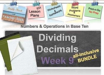 Week 9 Decimal Division 5th Grade Common Core Math EDI Les