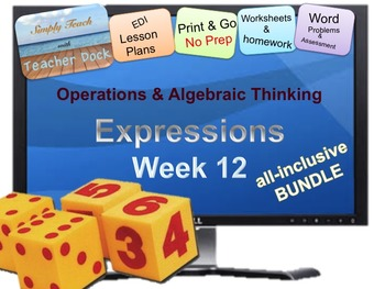 Week 12 Expressions: Word Problems 5th Grade Common Core M