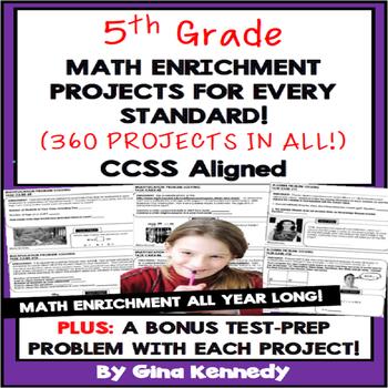5th Grade Math Test Prep Problems & Enrichment Projects Fo