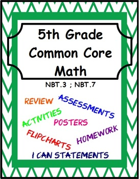 5th Grade Common Core Math - Module 3