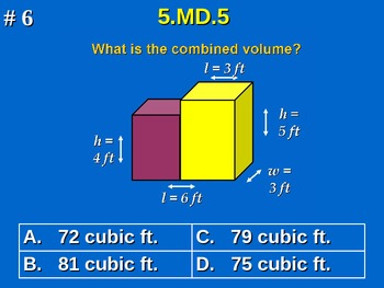 5th Grade Common Core Math Practice - All 26 Standards Included!