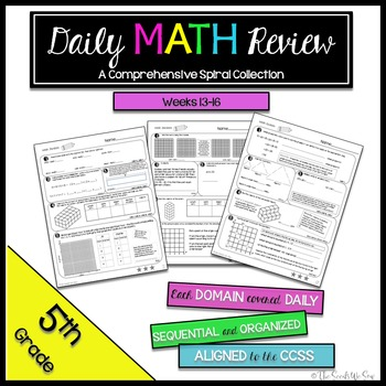 5th Grade Common Core Math Review {Weeks 13-16}