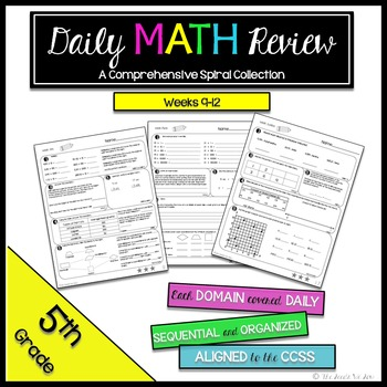 5th Grade Common Core Math Review {Weeks 9-12}
