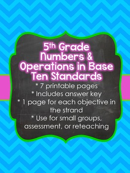 5th Grade Common Core Numbers and Operations in Base Ten (5.NBT)