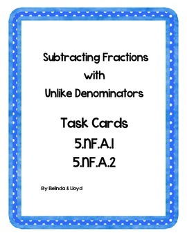5th Grade Common Core Subtracting Fractions Wih Unlike Den