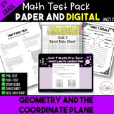 Geometry and the Coordinate Plane Test  *5th*  {Unit 7}