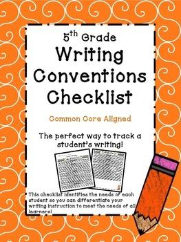 5th Grade Common Core Writing Checklist