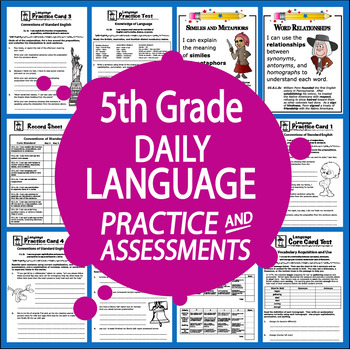 5th Grade Language Practice and Assessments