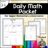 5th Grade Daily Math Packet