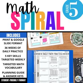 Fifth Grade Daily Math Spiral Review: 36-week Bundle (CCSS