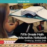 Fifth Grade- Decimals Interactive Notebook