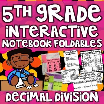 5th Grade Interactive Math Notebook -Dividing Decimals ~ 1