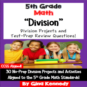 5th Grade Division, 30 Enrichment Projects and 30 Test-Pre