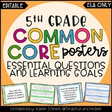 5th Grade ELA Common Core {EQs & Learning Goals - Marzano}