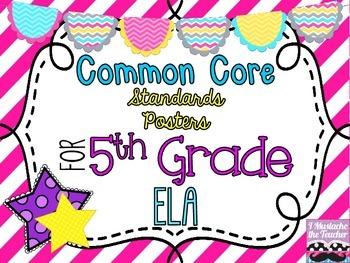 5th Grade ELA Common Core *Standards Posters* Diagonal Pin