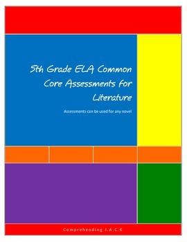 5th Grade ELA Common Core Standards for any Novel