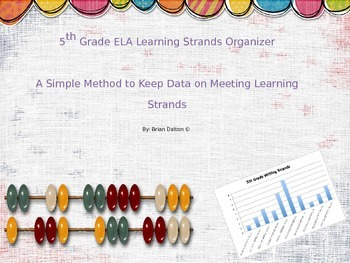 5th Grade ELA Learning Strands Organizer: Keep Data on Mee