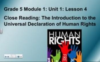 5th Grade ELA Module 1, Unit 1, Lesson 4
