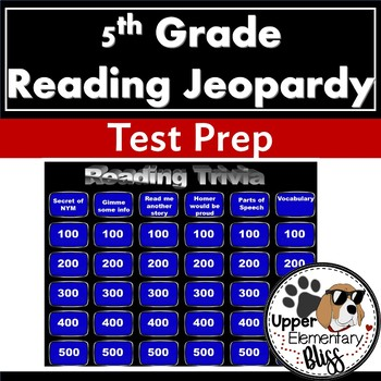 5th Grade ELA PSSA Trivia Game Show- Jeopardy style review