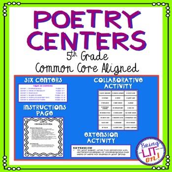 5th Grade ELA Poetry Centers